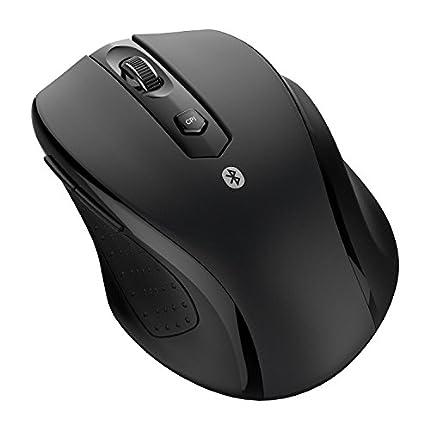 JETech Bluetooth Ratón inalámbrico, 5 Niveles de CPI, Negro