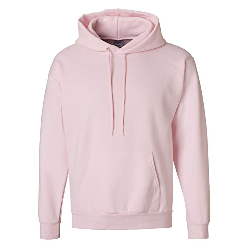 Hanes Men's Pullover EcoSmart Hooded Sweatshirt, pale pink, Medium