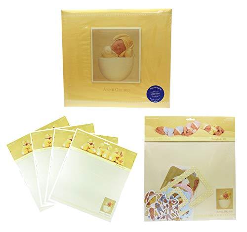 Anne Geddes Scrapbook-Album 30 cm x 30 cm mit 20 x bedruckten Papieren und Scrapbook Kit