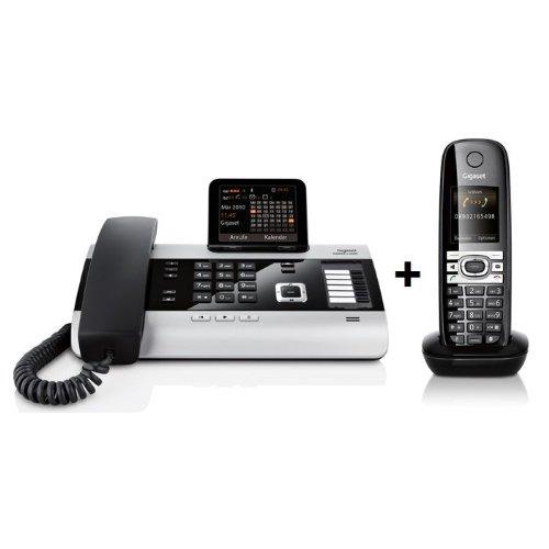 Gigaset DX600A ISDN AB + 1x C610H Duo Festnetztelefon