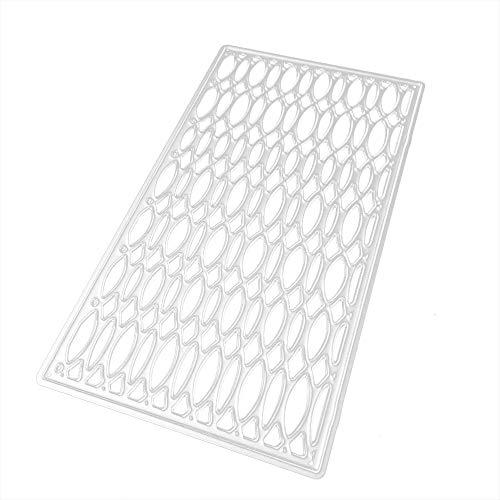 Xmiral Scrapbooking Stanzschablone Prägeschablonen,Verschiedene Muster für den Fotorahmen(E)