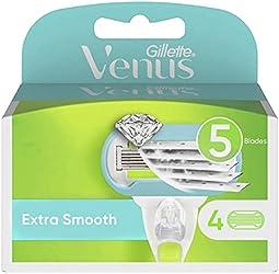 Venus Gillette Venus Extra Smooth Refill Blades, 4 count