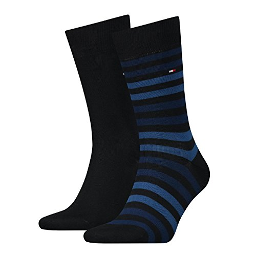 Tommy Hilfiger Duo Stripe Men's Socks Pack of 4 - Multicolour - 6-8