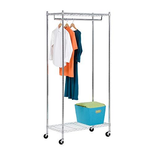 Honey-Can-Do GAR-01120 Heavy Duty Rolling Garment Rack,Chrome