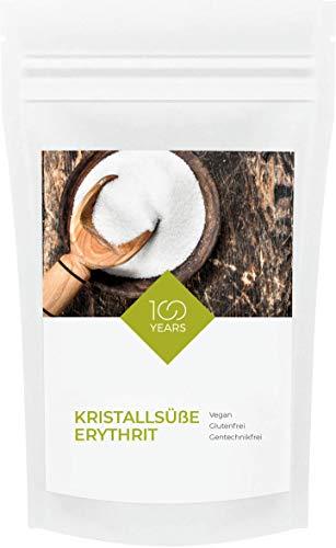 100years - Erythrit 1000g (1 Kg) - Erythritol - kalorienfreie Zuckeralternative - Diabetiker geeignet - Vegan