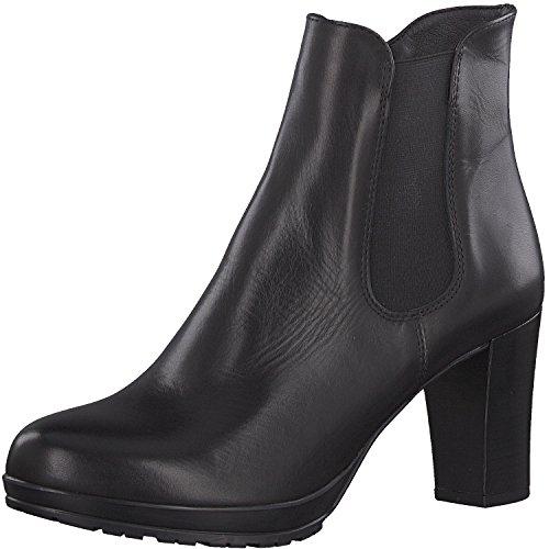 Tamaris Damen Stiefelette 25090-21,Frauen Stiefel,Boot,Halbstiefel,Damenstiefelette,Bootie,hoch,High Heel,Party,Trichterabsatz 8cm,Black Leather,EU 36