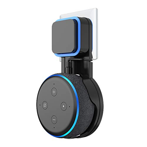 Soporte para Dot (3ra generación) Altavoz Inteligente, Cable Perfectamente recogido sin Tornillos, Soporte en cocinas, baño y Dormitorio - Negro