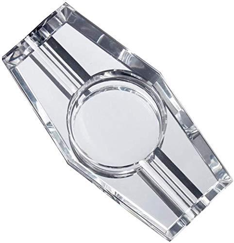 Cenicero de cristal transparente de la artesanía del regalo de la decoración para el hogar sala de estar oficina
