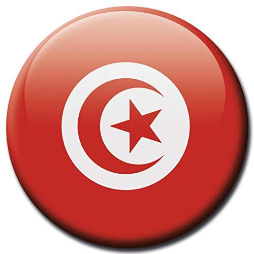 Kühlschrankmagnet Tunesien Flaggen Magnet Länder Reise Souvenir Flagge für Kühlschrank stark groß 50 mm