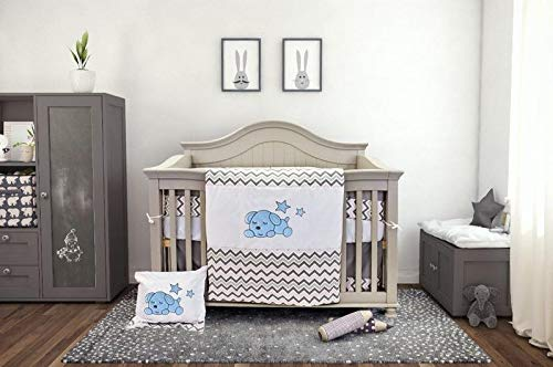 Check Out This BOOBEYEH & DESIGN Baby Crib Bedding Set, 7 Pieces, Boys and Girls, Including: Fitted ...