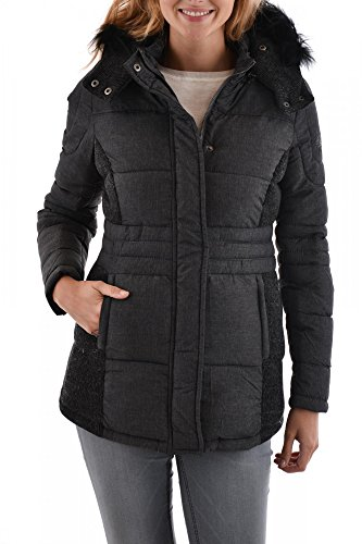 Kaporal Spell - Doudoune - Manches Longues - Femme - Gris (Greym) - FR : 34 (Taille Fabricant : XS)