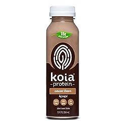 Koia Protein - Ready To Drink Plant Protein Shake (12 oz) - Cacao Bean - Dairy Free, Gluten Free, So