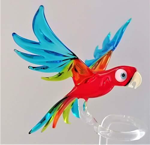 Glasvogelwelt Orchideenstab Papagei