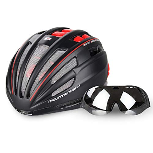 JM- Fahrradhelm Brille integrierte Fahrrad mit Brille Reitausrüstung Mountainbike Helm Männer und Frauen