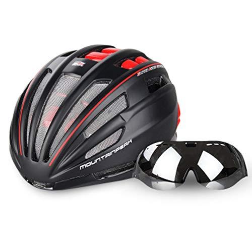 JM- Ciclismo Casco Gafas Bicicleta integrada con Gafas Equip