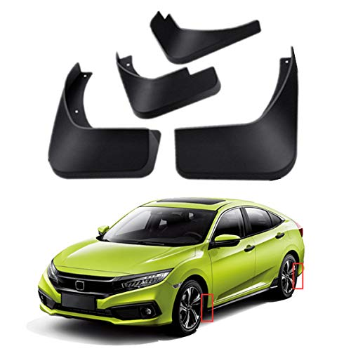 Mud Flaps Kit for 2016-2021 Honda Civic 10th Mud Splash Guard Front and Rear 4-PC Set by TOPGRIL