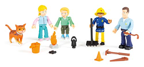 Simba Sam Feuerwehr-Spielzeug, 5 Figuren, 109251055002