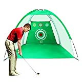 PGM Golf Net Golf Training Aids Practice Net for Backyard Swing Hitting Chipping with Target Bundle with Carry Bag and Golf Balls Indoor Outdoor Sports