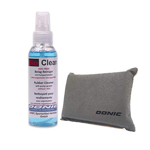 DONIC Bio Clean Table Tennis Rubber Cleaner (250ml with Sponge)