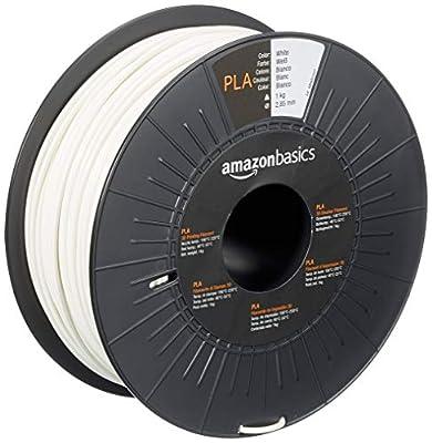 AmazonBasics 3D-Drucker-Filament aus PLA-Kunststoff, 2,85 mm, Weiß, 1-kg-Spule