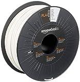 Amazon Basics - Filamento per stampanti 3D, in polilattato (PLA), 2.85 mm, bianco, 1 kg pe...