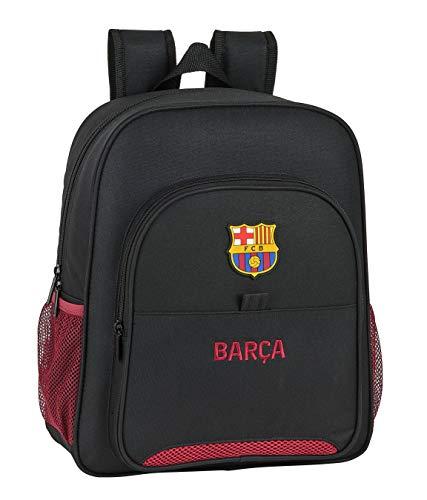 safta 612027640 Mochila Junior niño Adaptable Carro FC Barcelona, Negro