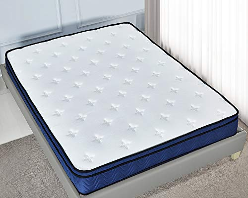 Yalatan Sprung Mattress, Double luxury latex mattress, 10 inch Nature Latex Hybrid Pocket, Medium Firm 4FT Size (122 * 191cm).