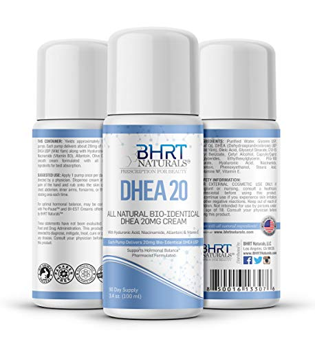 DHEA Cream 20mg for Men & Women Bioidentical DHEA USP Natural - Natural Energy Supplement, Mood...