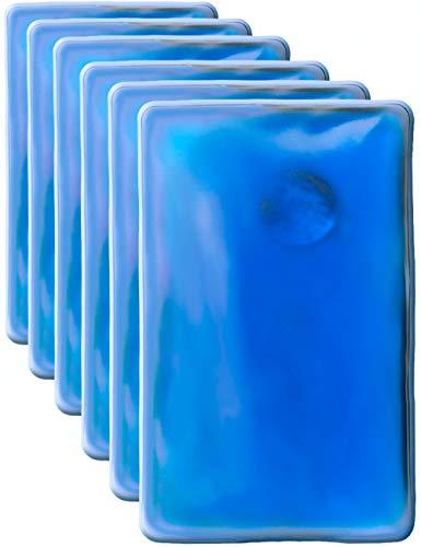 Hometools.UE®–6x coussin chauffant, bouillotte de poche | Coussin en gel, chauffe-main, auto-chauffant, longue durée, réutilisable | 10x 6,5cm, Lot de 6