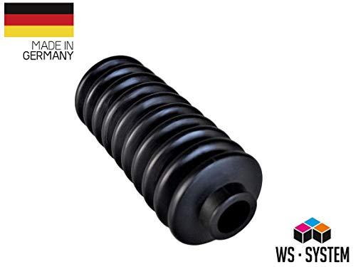 2 Stück Universal Faltenbalg Gummi Manschette Balg L 60mm-147mm Ø 20mm-27mm