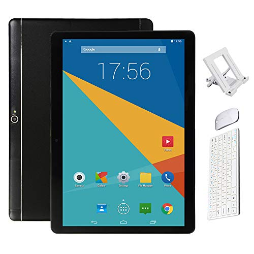 BESTSUGER Android Tablet, (10, 1 Zoll) Tablet-PC mit Bluetooth Maus und Tastatur (1.5 GHz Octa-Core, 2 GB RAM, 32 GB ROM,1280 x 800 IPS HD, Android 8.0), Dual Kamera/SIM 3G Tablets,Schwarz