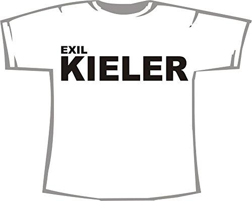 Exil Kieler; T-Shirt weiß, 40/42; Gr. M; Damen; Unisex