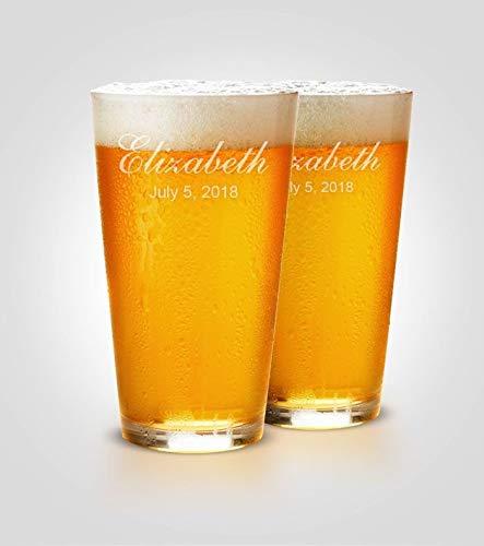 Vasos de cerveza personalizados para regalo de boda, dama de honor, novia, dama de honor, boda, pinta de copa, regalo único para novia, novia, novia