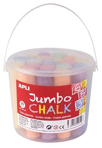 APLI Kids- Caja tiza redonda, Colores surtidos-20 uds, 25 x 105 mm (14855)