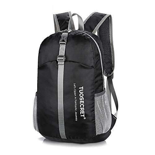 Mountaineering Backpack Lightweight Lightweight Folding Backpack Gym Bag Unisex Outdoor Backpack Foldable Day Backpack Outdoor Bag Travelling Cycling Backpack Outdoor Sports Backpack ( Color : Black )