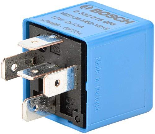 Bosch 0332015006 Mini-Relais 12V 15A, IP5K4, Betriebstemperatur von -40° C bis 85° C, Schließer-Relais, 5 Pins