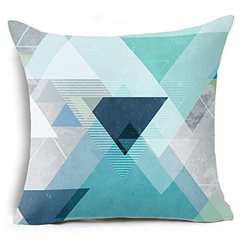 Nyfcc Pillowcase, Geometric Pillow Case Waist Cushion Cover Sofa Home Decor, Home & Garden (Color : B, Size : -)