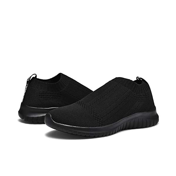 TIOSEBON Women's Walking Sock Shoes Lightweight Slip on Breathable Yoga Sneakers