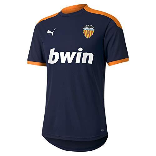 PUMA Valencia CF Temporada 2020/21-Training Jersey Peacoat-Vibrant Oran Camiseta, Unisex, Azul, XS