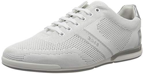 BOSS Herren Saturn_Lowp_knlg Sneaker, Open White120, 40 EU