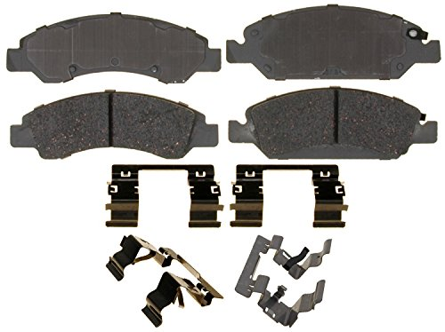 ACDelco Silver 14D1367CH Ceramic Front Disc Brake Pad Set with Hardware