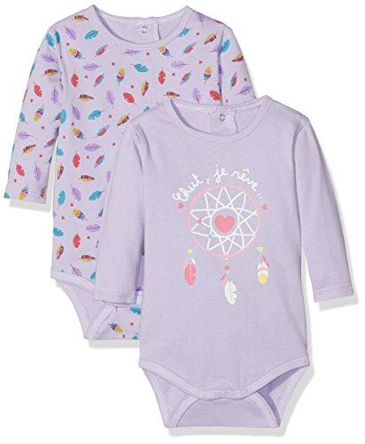 Dodo Homewear LFD.REVES.BOD Body, Morado (Violet Violet), 1 Año (Tallas De Fabricante: 12 M) (Pack de 2) para Bebés