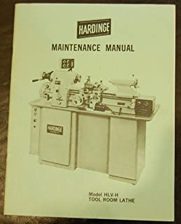 Hardinge HLV-H Lathe Maintenance Manual hlvh