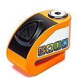 Candado en U Bloqueo de la motocicleta antirrobo de bloqueo a prueba de agua Scooter eléctrico coche Locomotora Inteligente Bloqueo de alarma automática Candado Antirrobo ( Color : Yellow )
