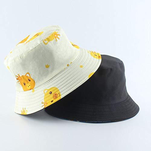 MTBDLYQ Chapeau De Pêcheur Femme,Unisex Fisherman Hat Animal Pig Print Men Women Réversible Bucket Hat Hip Hop Cap, Automne Vintage Casual Adult Travel Sun Fishing Hat