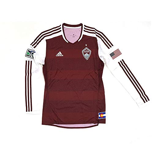 adidas Colorado Rapids MLS Maroon Mens Authentic Long Sleeve Jersey