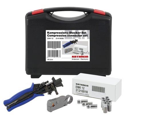 Kathrein ZAH 12 Kompressions-Stecker-Set (Koffer, Zange, Stecker)
