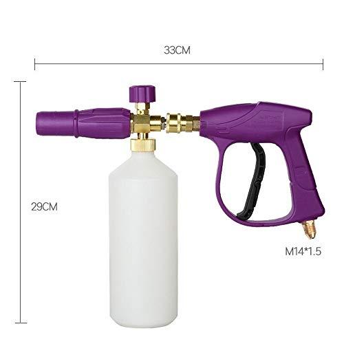 Auto-onderdelen Wasmachine van de Auto 3000 PSI hogedrukreiniger G-un sneeuw Foam Lance Foam Blaster met M14 M18 M22 Thread New (Color : Purple, Size : M14*1.5)