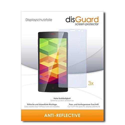 disGuard® Bildschirmschutzfolie [Anti-Reflex] kompatibel mit Ulefone Be X [3 Stück] Entspiegelnd, Matt, Antireflektierend, Extrem Kratzfest, Anti-Fingerabdruck - Panzerglas Folie, Schutzfolie