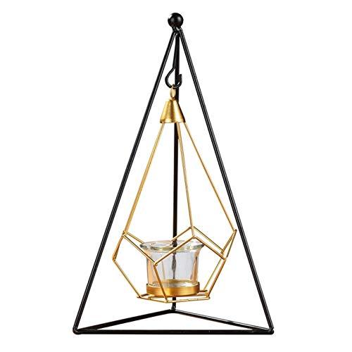 WGGTX Dekorative Ornamente Große Metallkerzenhalter, Geometrischer Draht Modernes dekoratives Mittelstück Kerze Kerzenständer for Hochzeit, Hauptdekor, Zeremonie und Jahrestag Büroeinrichtung
